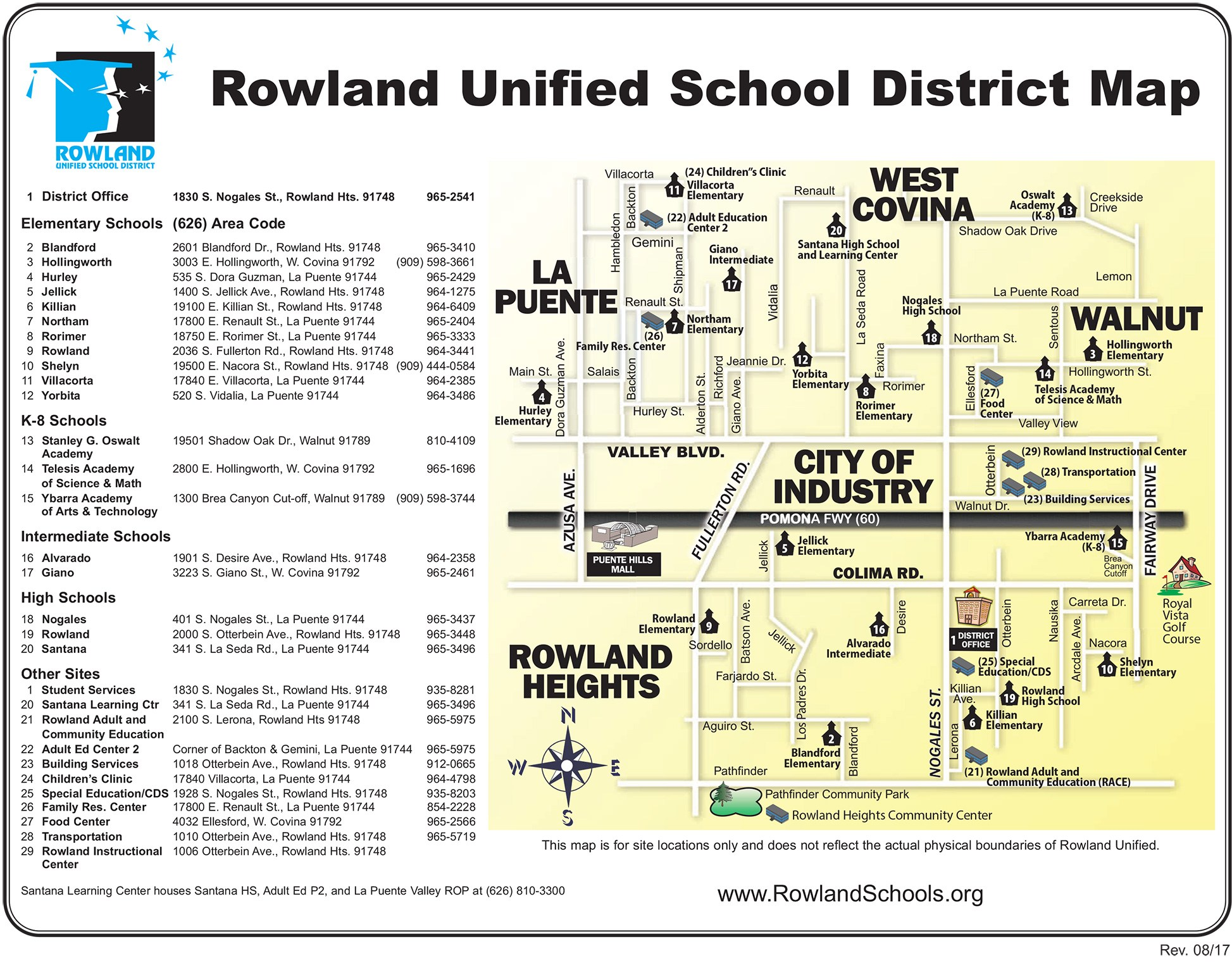 Home District Map Rowland Unified School District