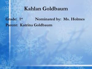scholar Kahlan Goldbaum