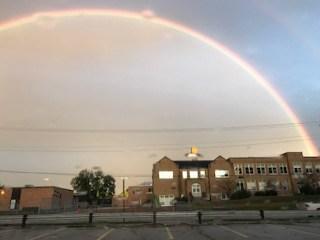A rainbow shining over us!