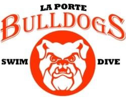 Bulldogs swim and dive team logo