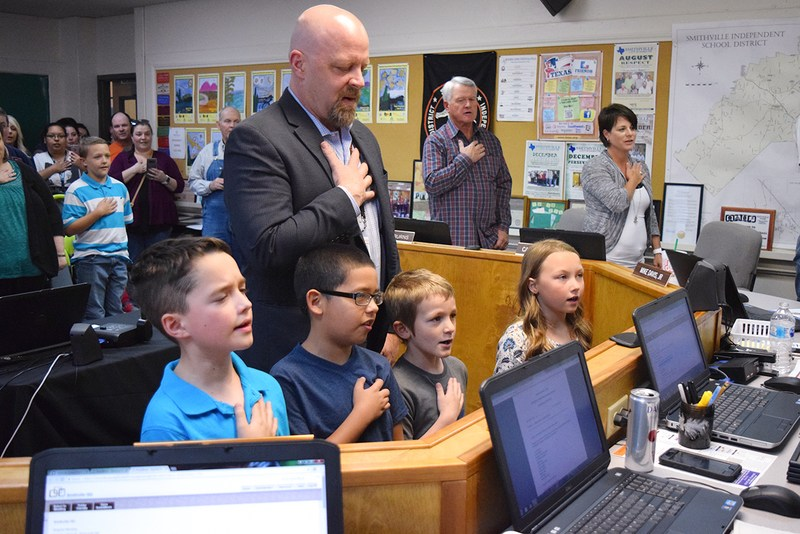 Students Lead Pledge at April Board Meeting Thumbnail Image