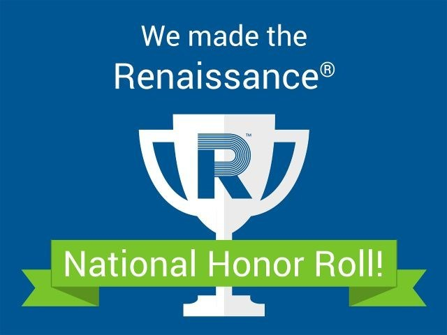 Graphic with trophy showing National Honor Roll