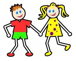 Boy and Girl picture for Kindergarten Registration