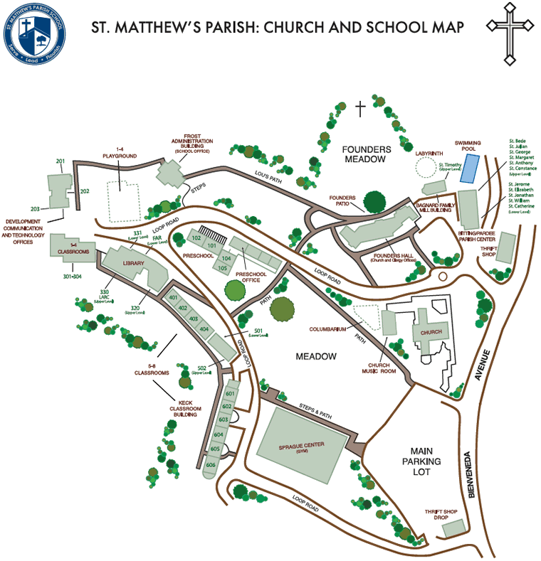 Campus Map Miscellaneous St Matthew S Parish School