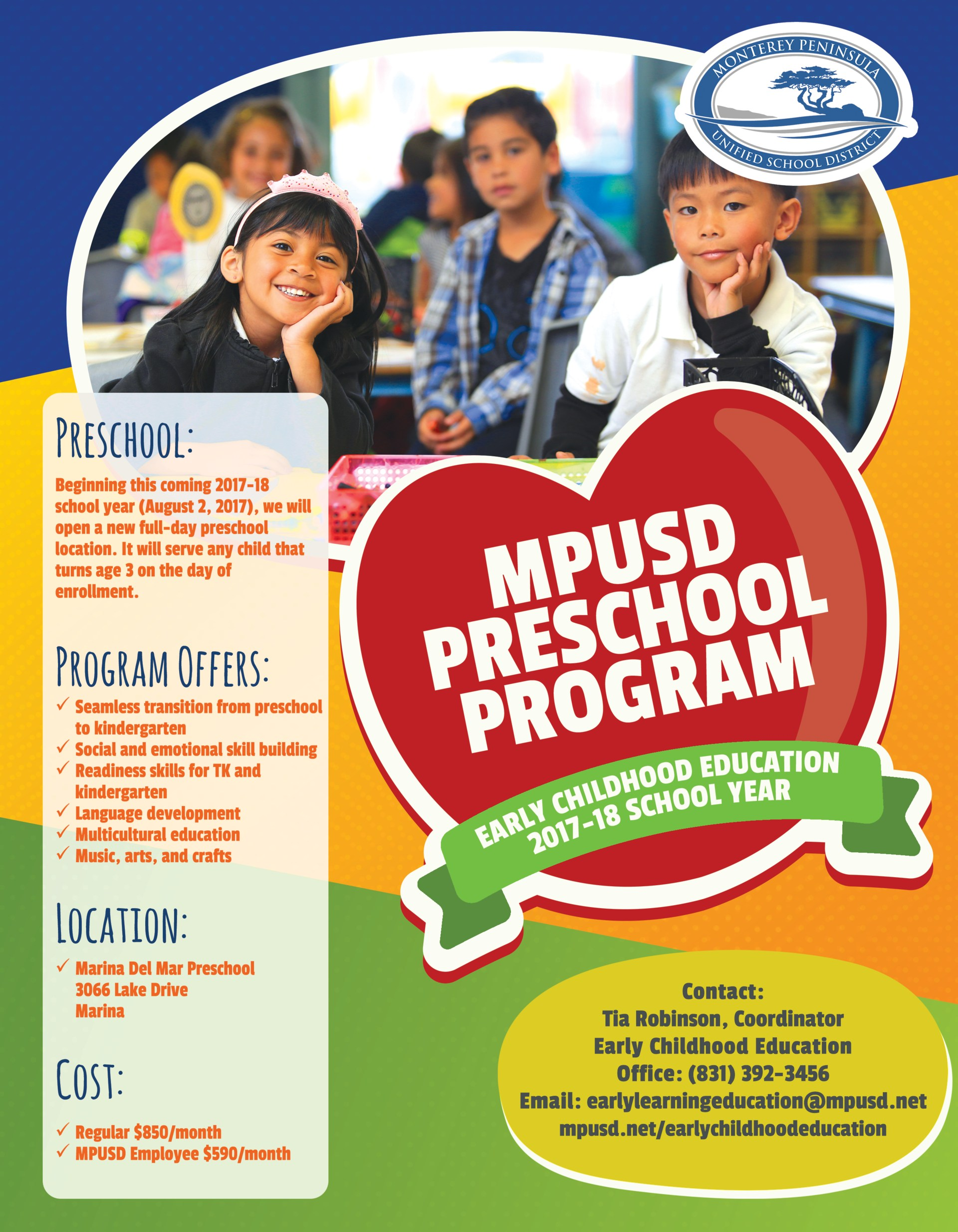 Fee based preschool flyer