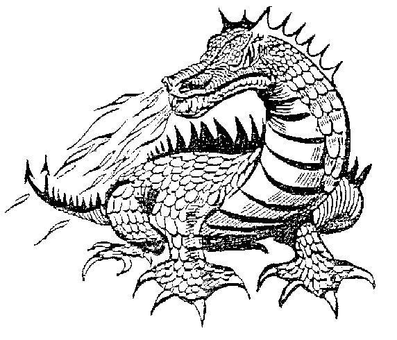 Grey image of Purchase Line's Dragon Mascot.