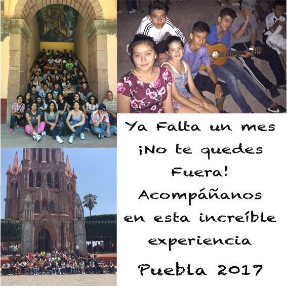 Falta un mes para nuestro viaje a Puebla con los alumnos de Secundaria y Bachillerato, ¡No te quedes fuera! Thumbnail Image