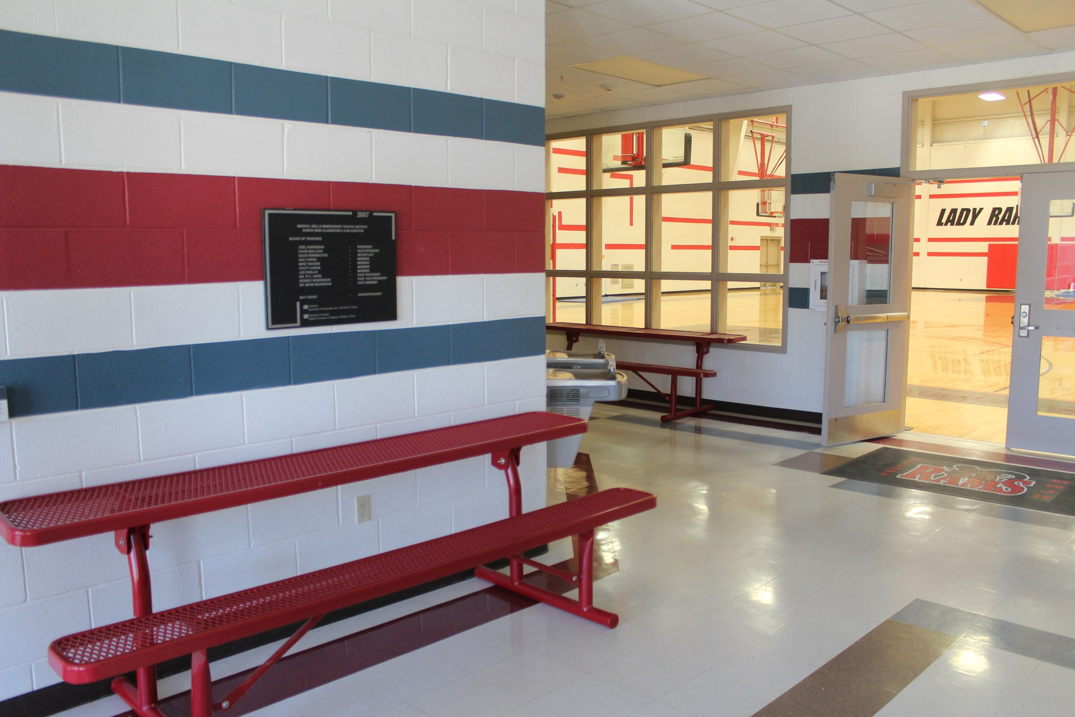 Vestibule/Dining area at Jr High New Gym