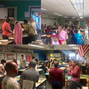 Students and Parents at Back to School Night