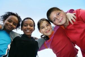 Five Children in a huddle