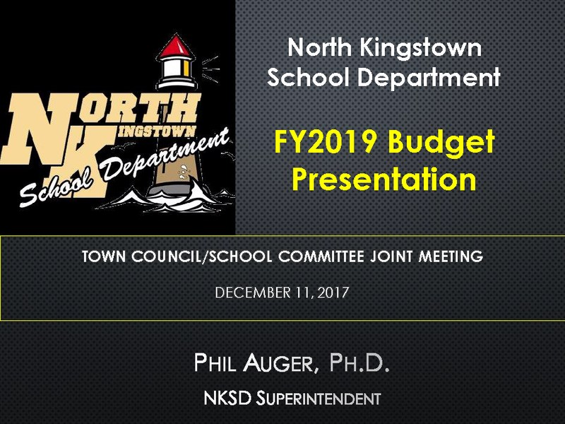 NKSD FY2019 Budget Presentation Featured Photo