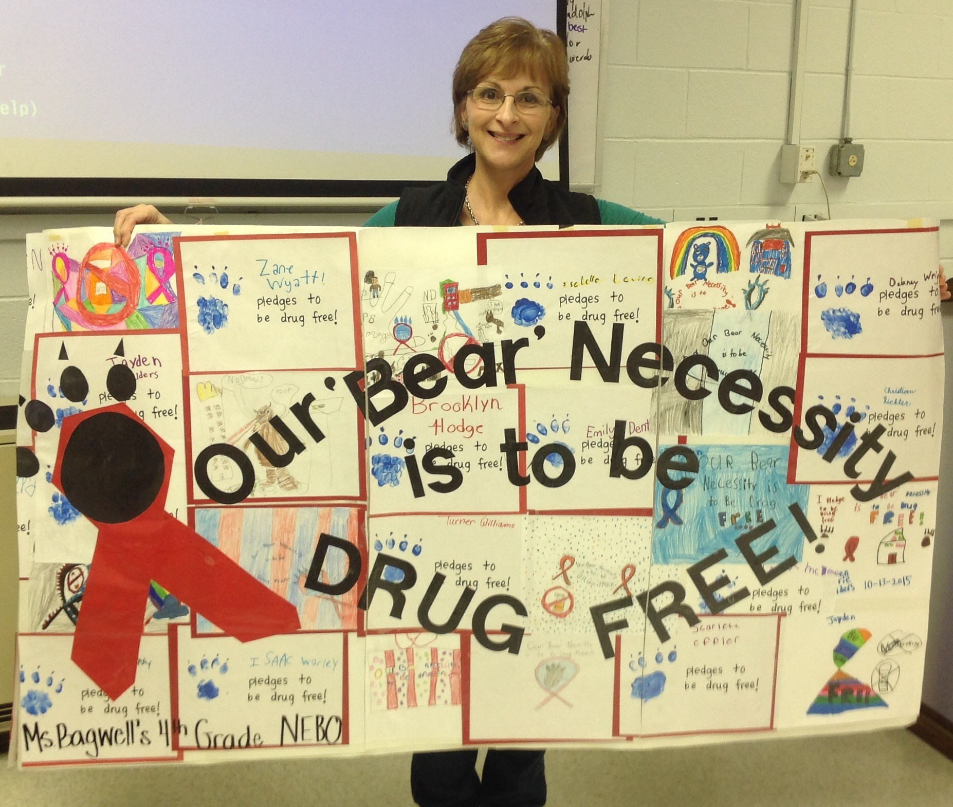 Nebo Elementary Red Ribbon Week Poster