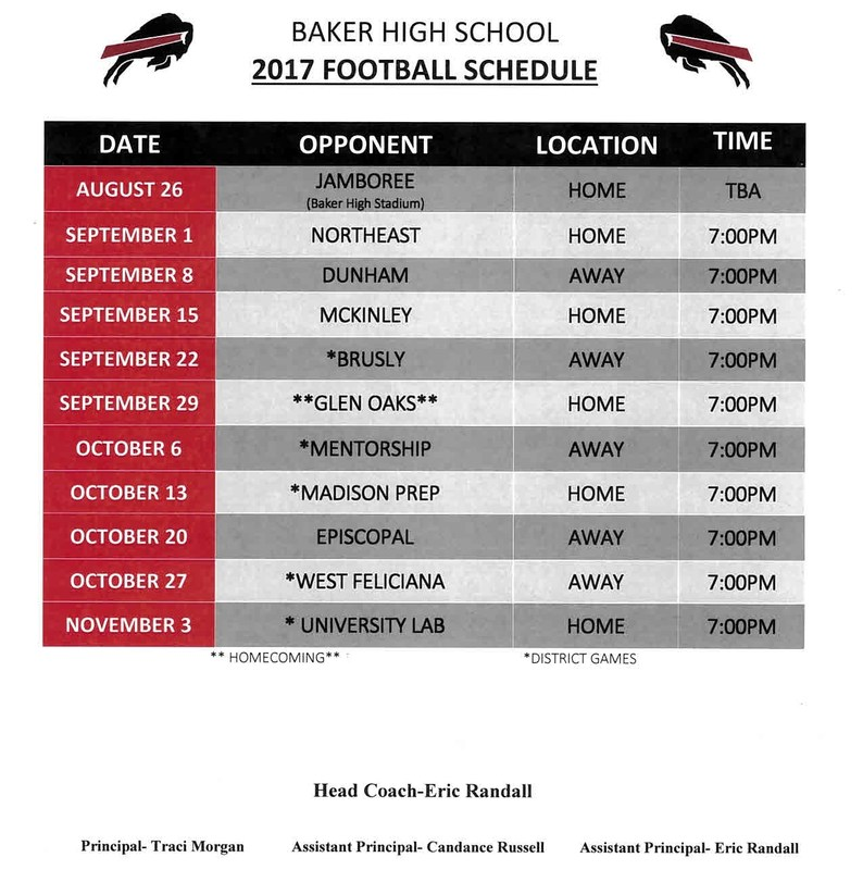 BHS 2017 Football Schedule Thumbnail Image