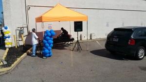 DJ Setting up for Invictus High School Community Fair