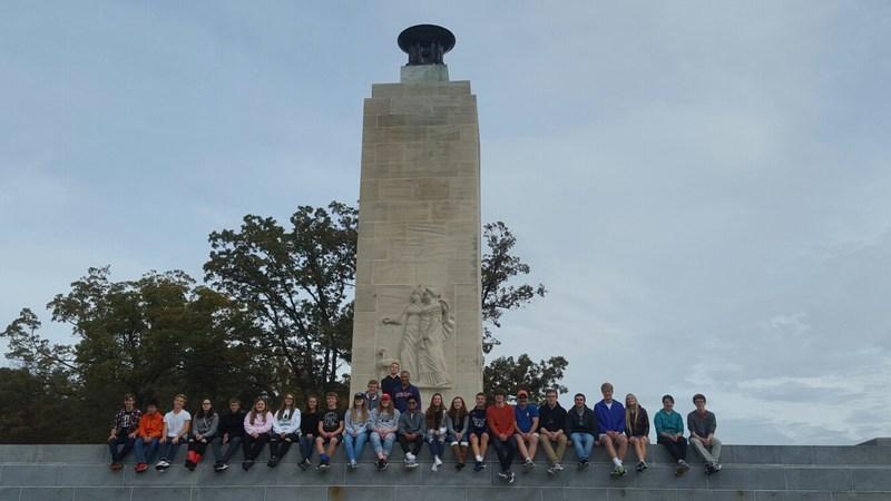 PYA students in Gettysburg