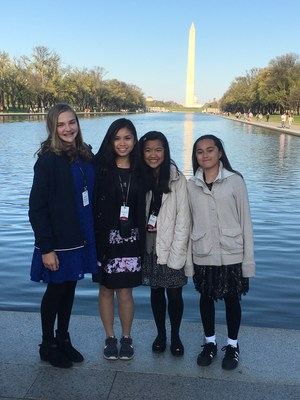 8 - St. Francis East Coast Study Trip - Reflecting Pool on the National Mall 2.JPG