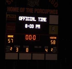 The final scoreboard - photo courtesy of Billy Williams.JPG