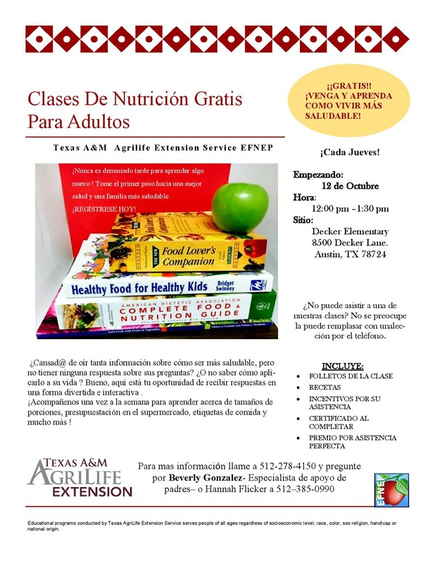 Adult Nutrition Classes - UPDATE Thumbnail Image