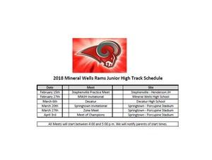 Mineral Wells Junior High Schedule