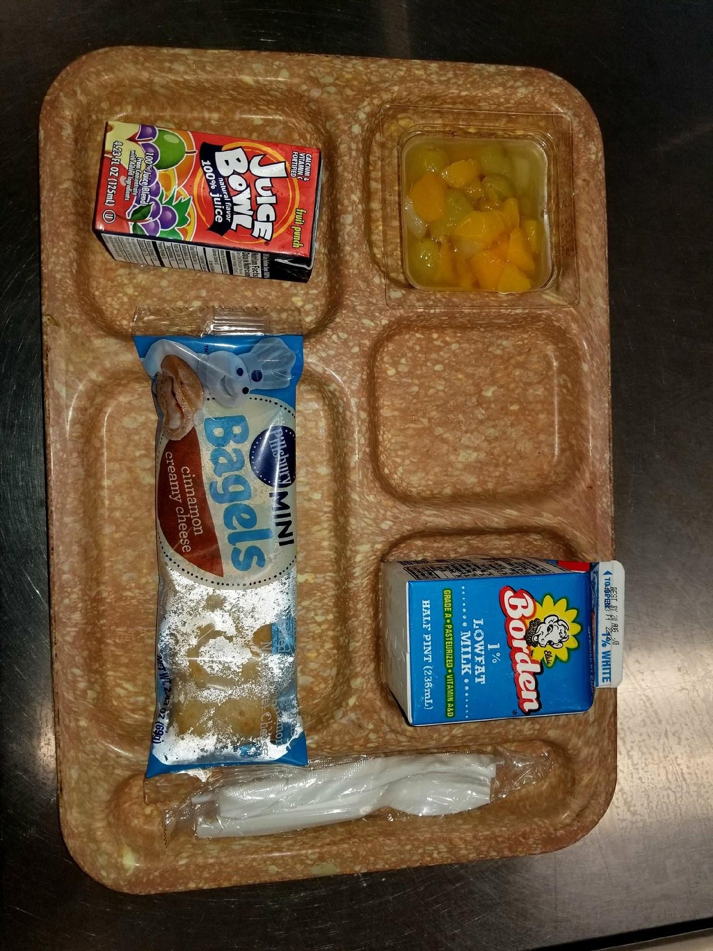 Mini Bagels breakfast tray