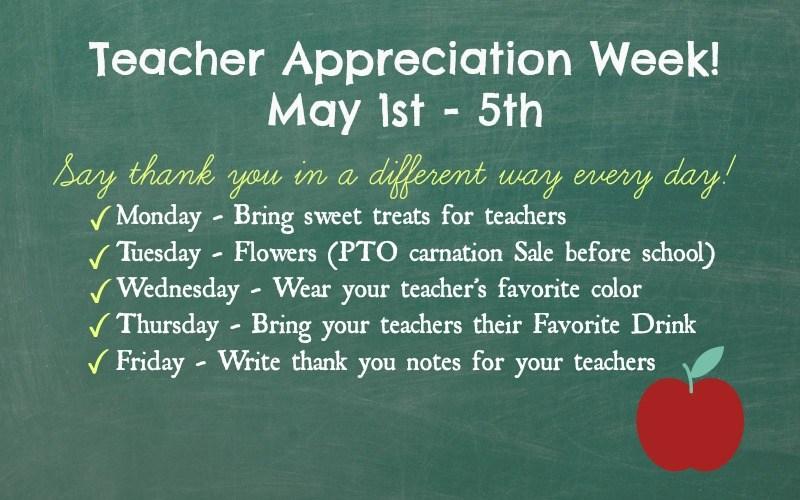 Teacher Appreciation Week: May 1st - 5th Thumbnail Image