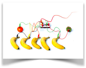 Image of bananas being used as batteries