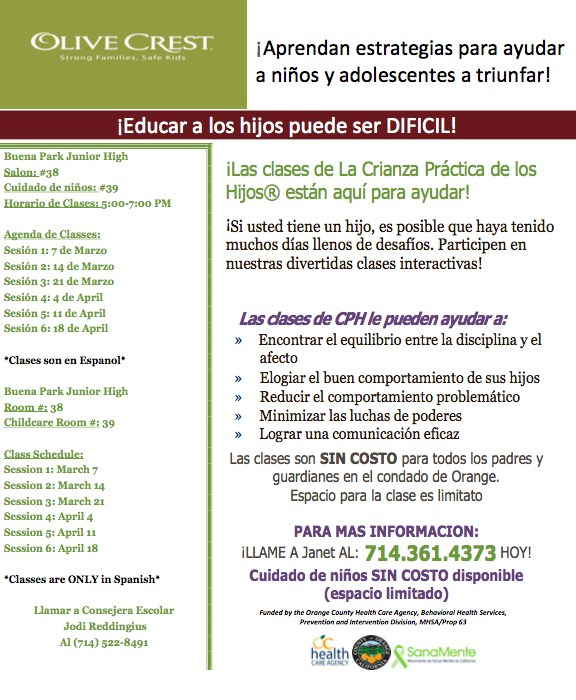 Parenting Classes (Spanish)