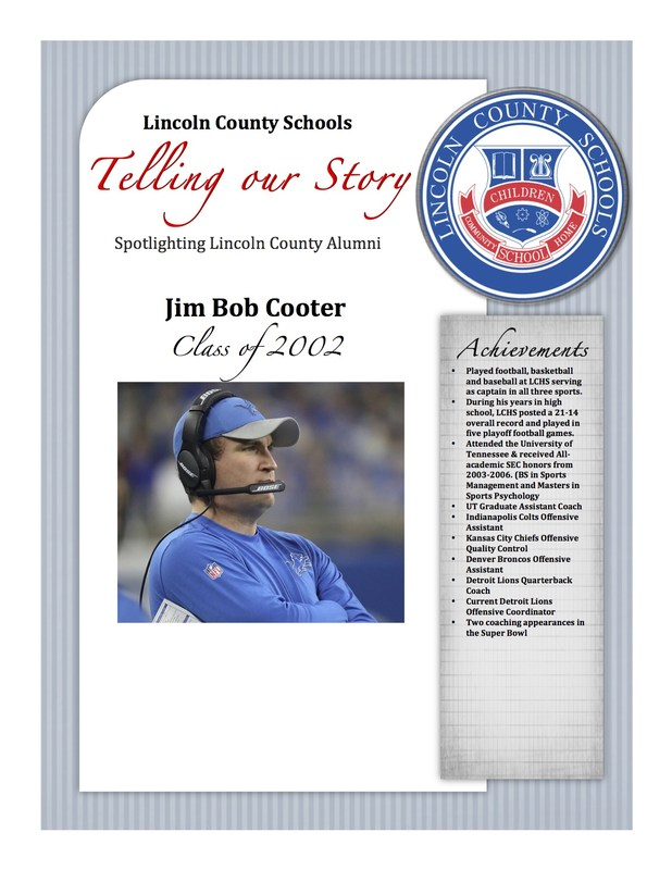 story featuring Jim Bob Cooter