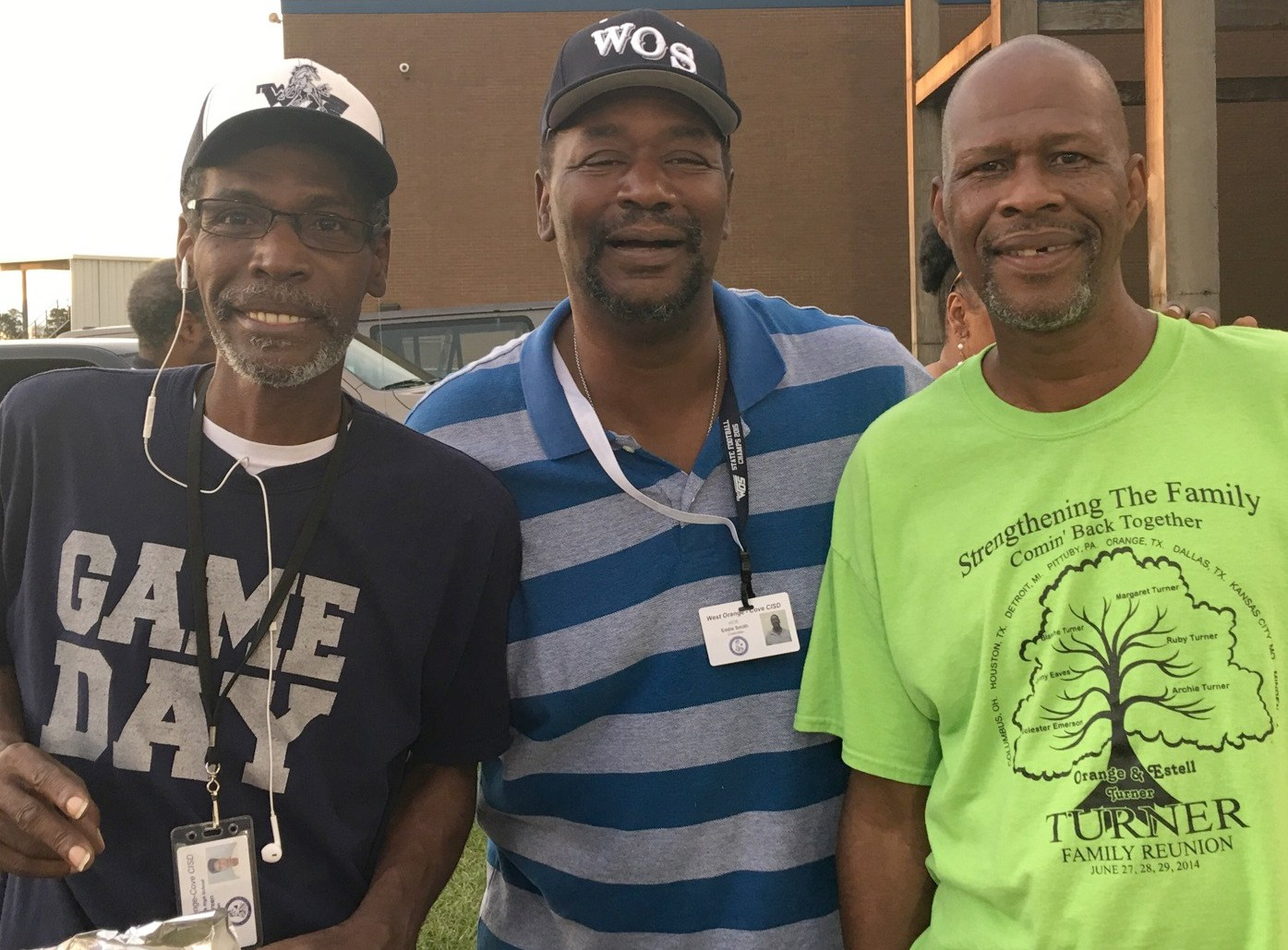 Custodians at maintenance cookout.