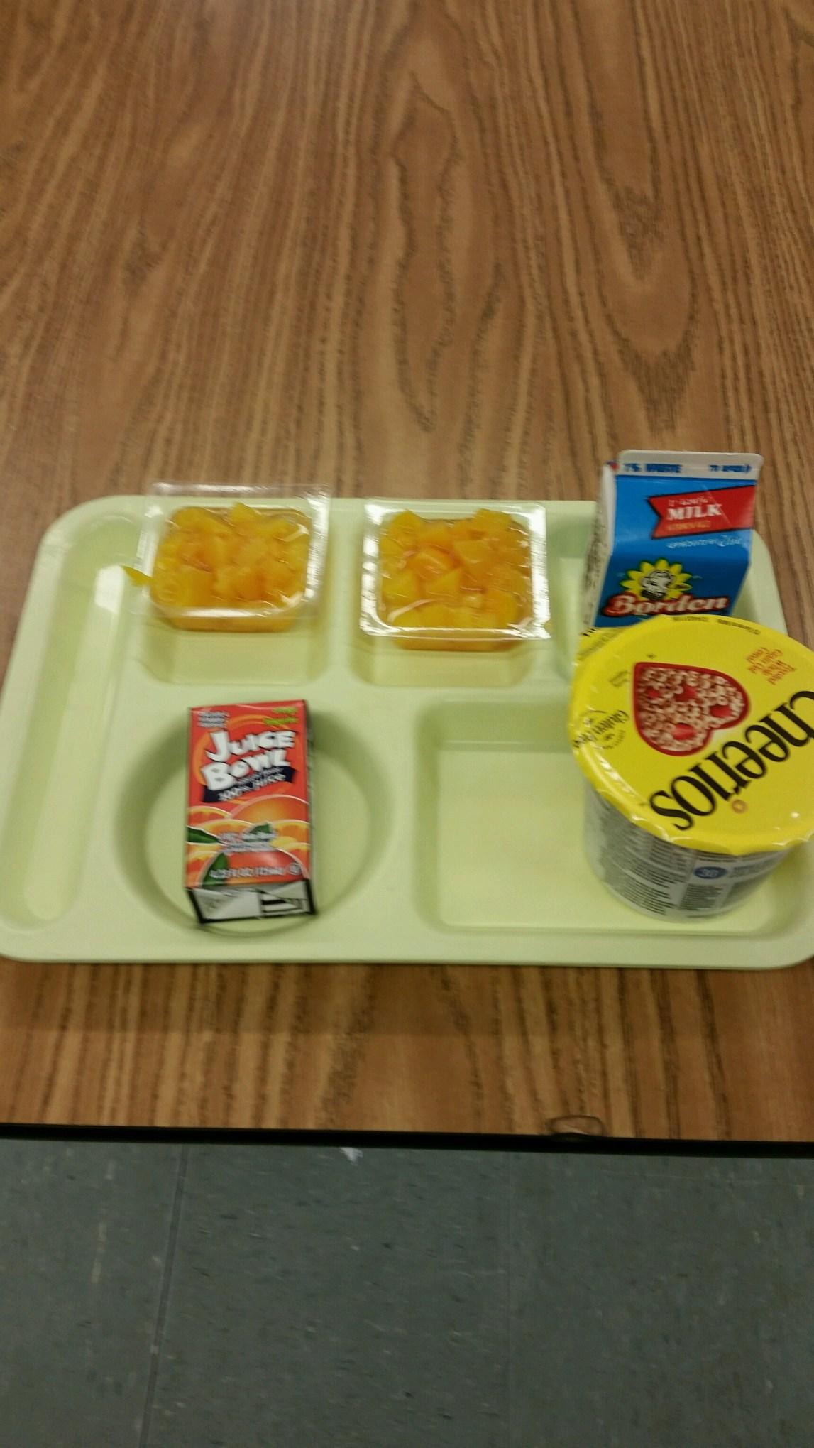 cheerios breakfast tray