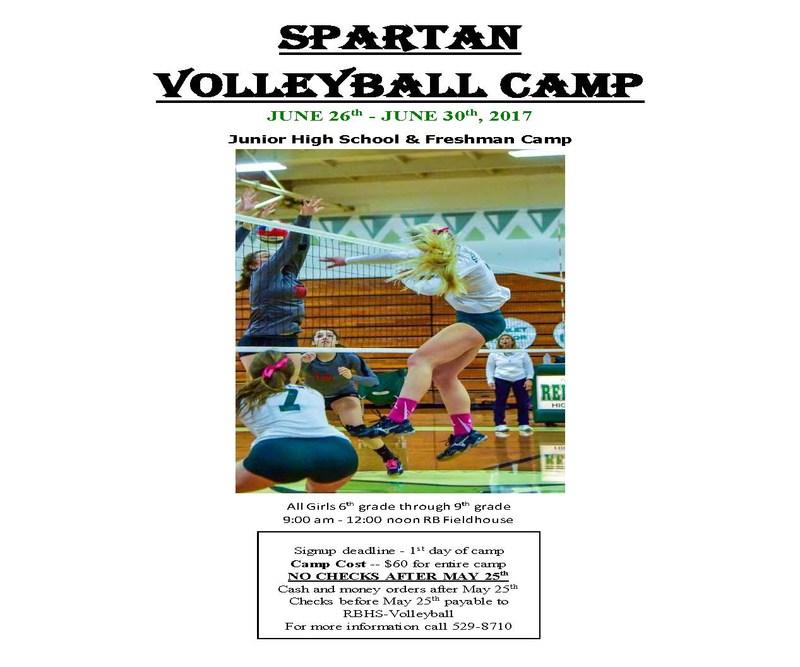 Spartan Summer Volleyball Camp 2017