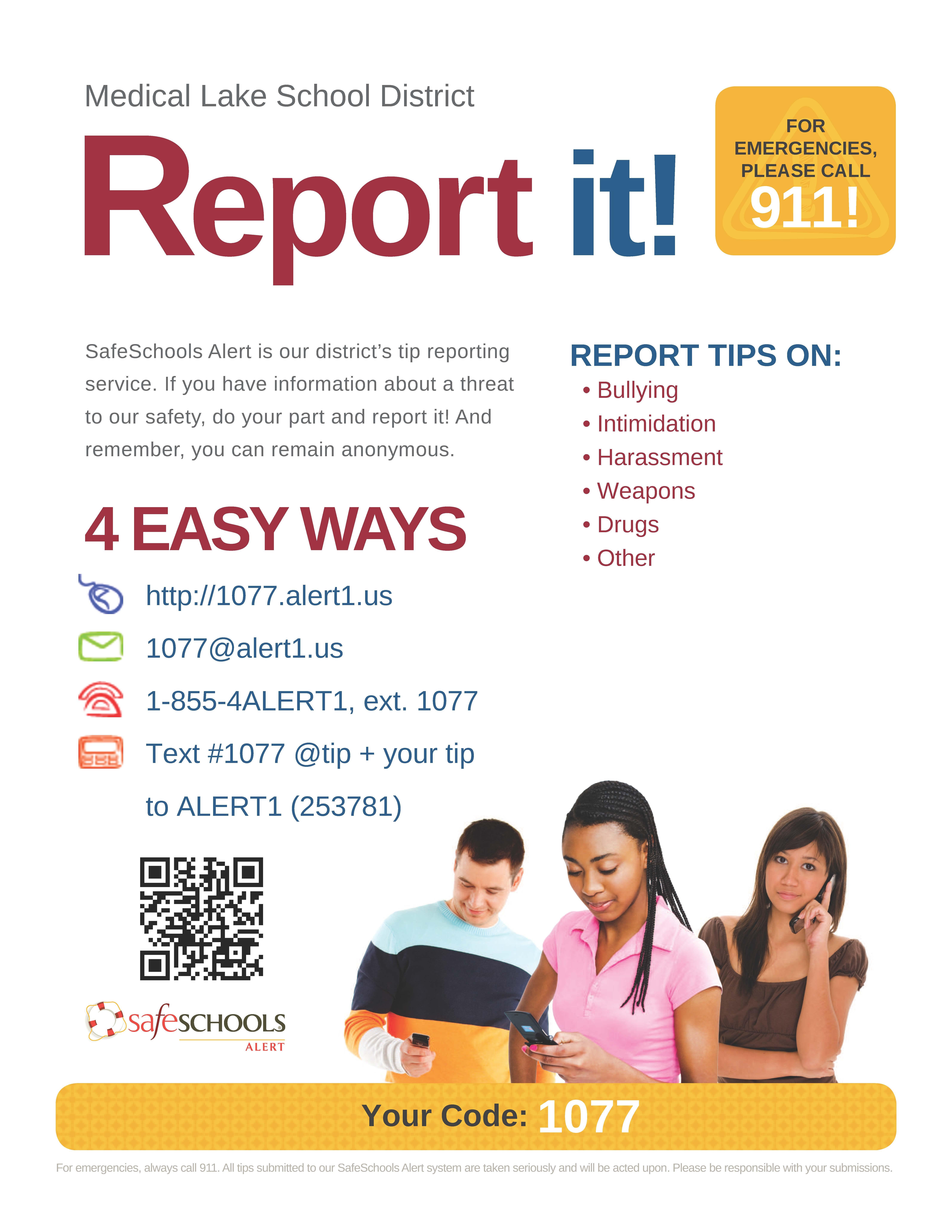 Safe Schools Alert Flyer