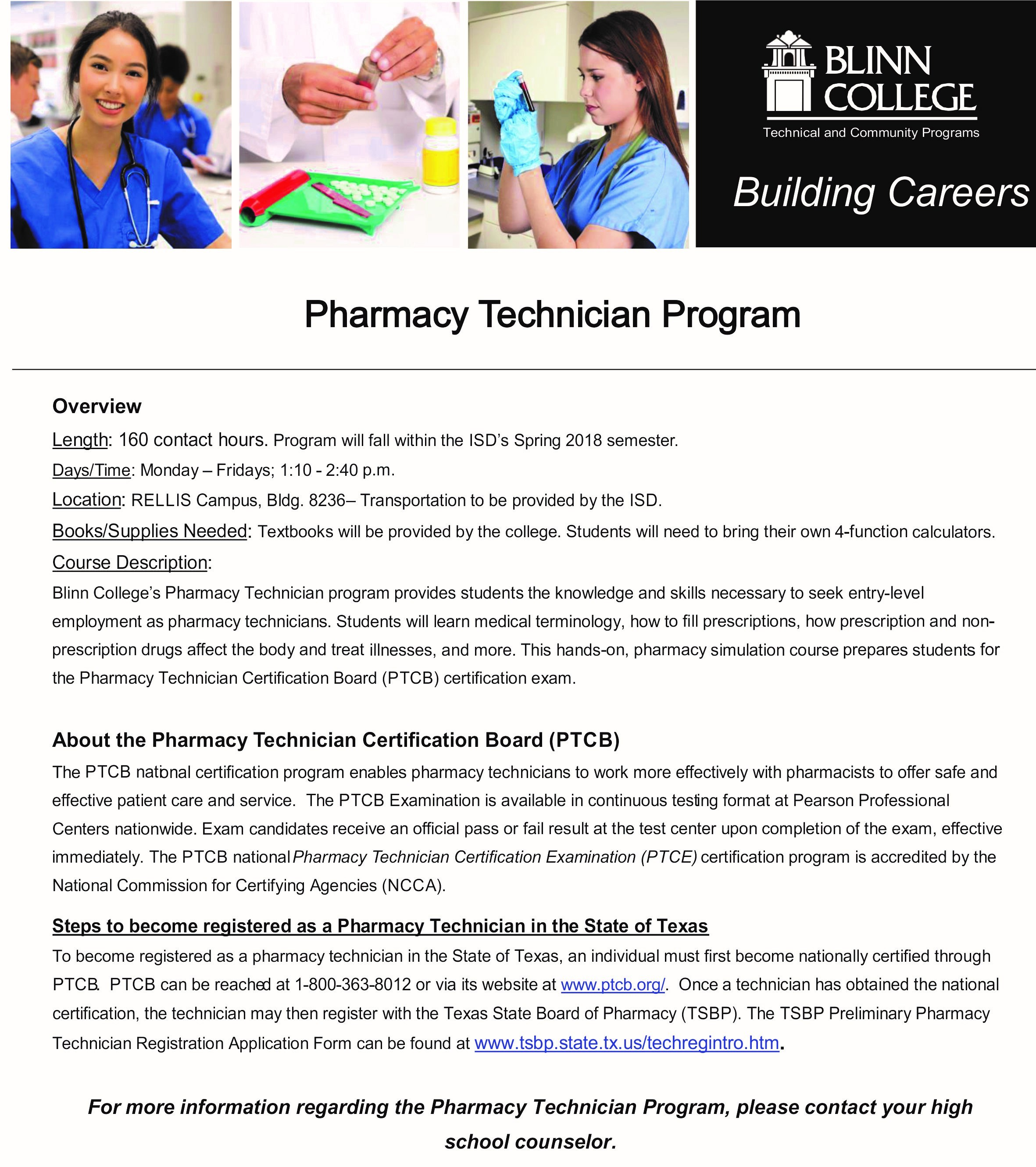 Inspirational image of pharmacy tech certification business caldwell independent school district caldwell independent school district from pharmacy tech certification xflitez Choice Image