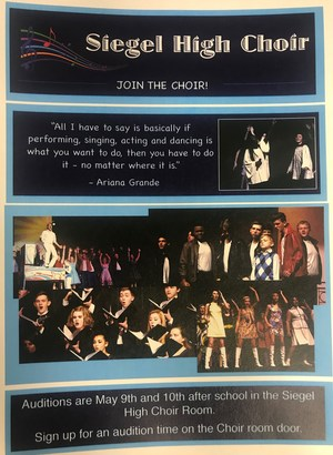 Join the Choir flyer with pictures of various choral events