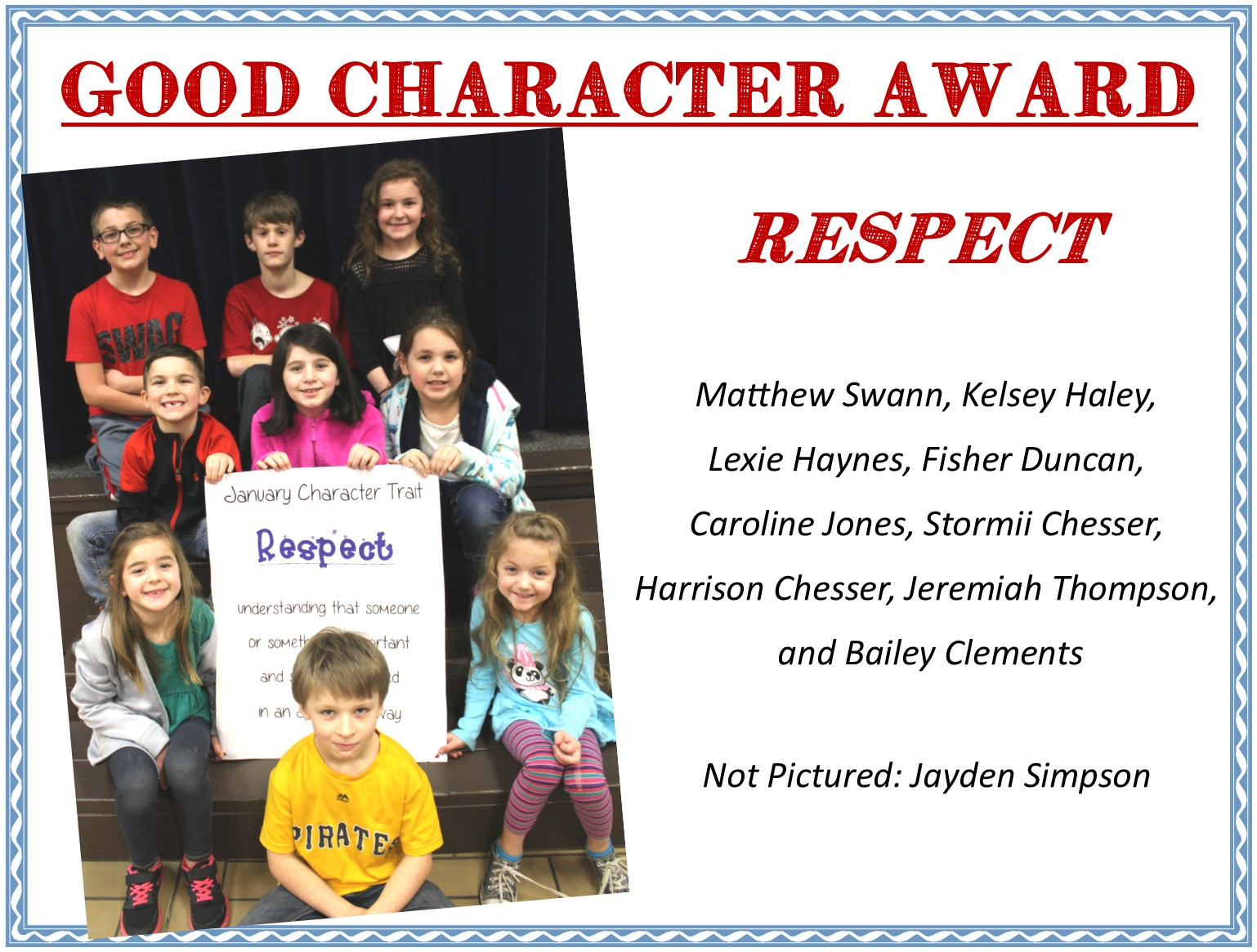kids with respect sign