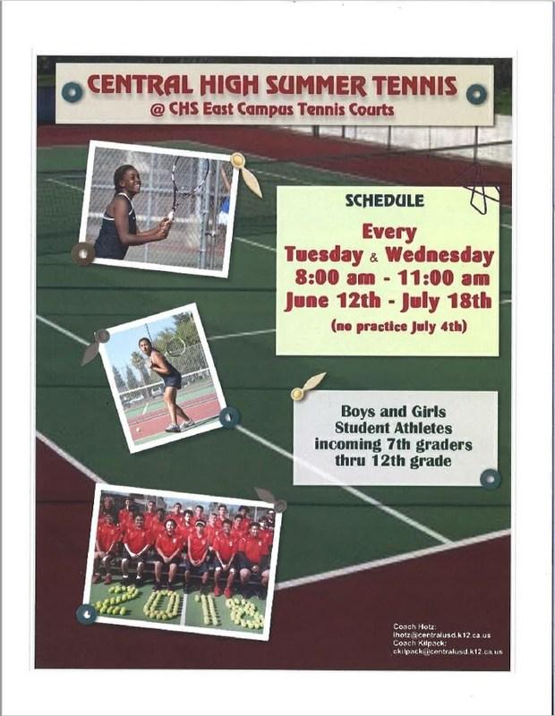 Central High Summer Tennis