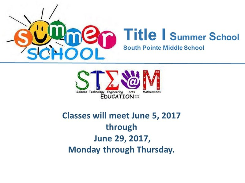 TITLE 1 Summer Schools begins June 5th (by invitation only) Featured Photo