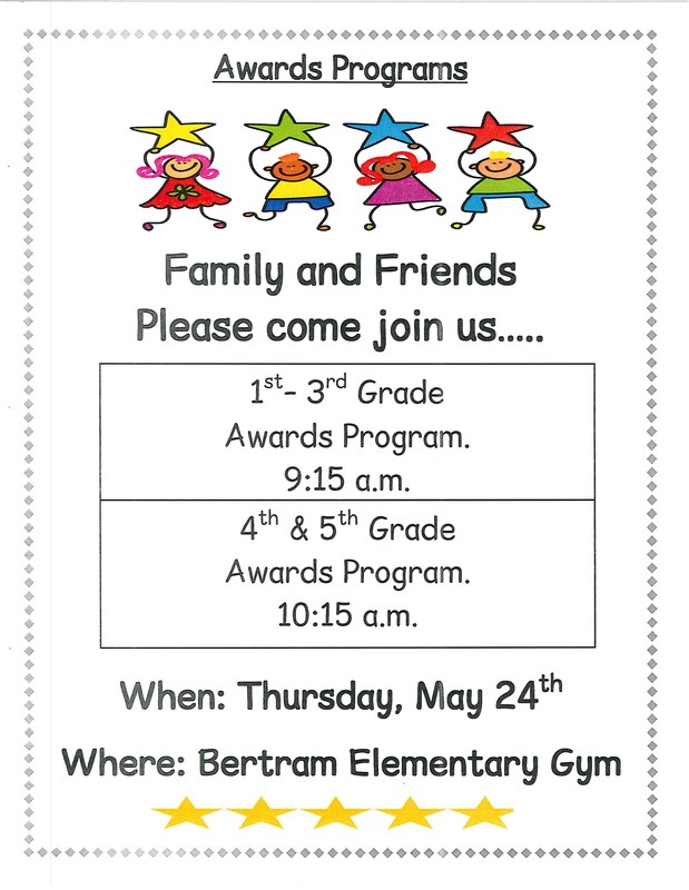 AWARDS PROGRAMS - Thursday, May 24th in the gym Thumbnail Image