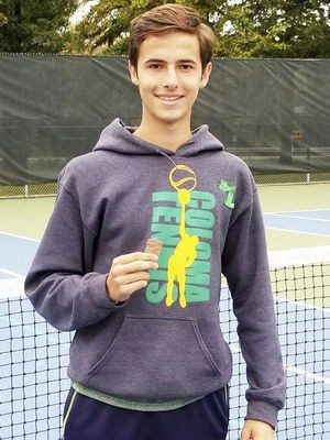 Coloma Comet exchange student and tennis player Luis Sanchez