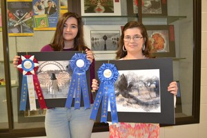 Students win blue ribbons at State photography exhibit