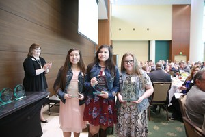 Outstanding Youth in Philanthropy Winners at Award Ceremony