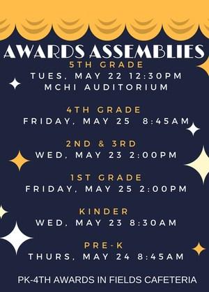 Awards Schedule