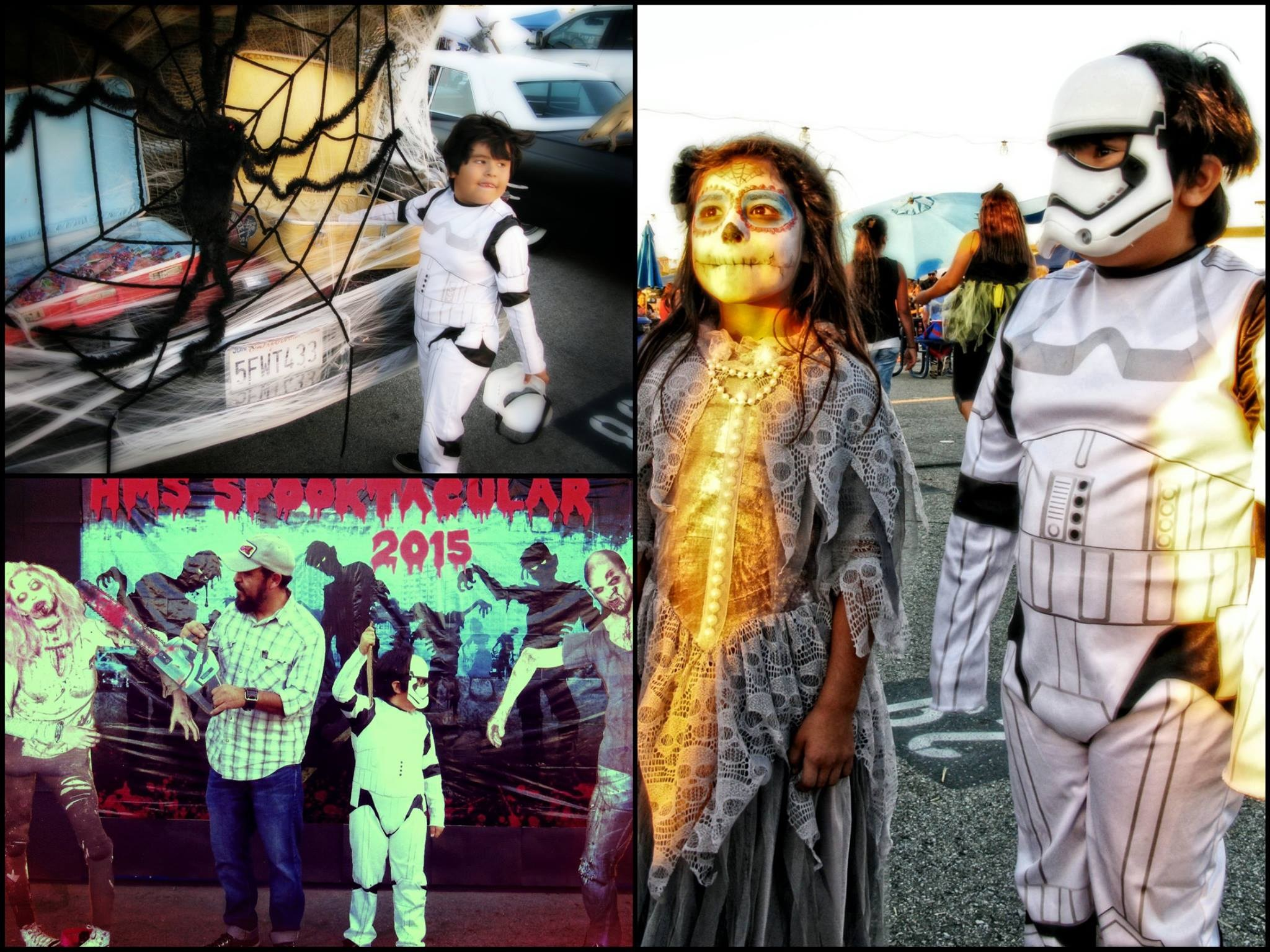 Photo montage of students enjoying HMS Spooktacular