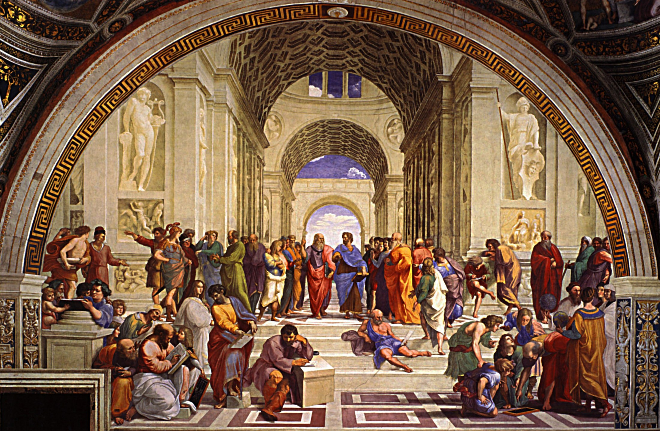 'The School of Athens' painting by Raphael