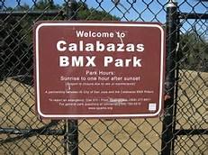 SIGN WITH CALABAZAS BMX PARK