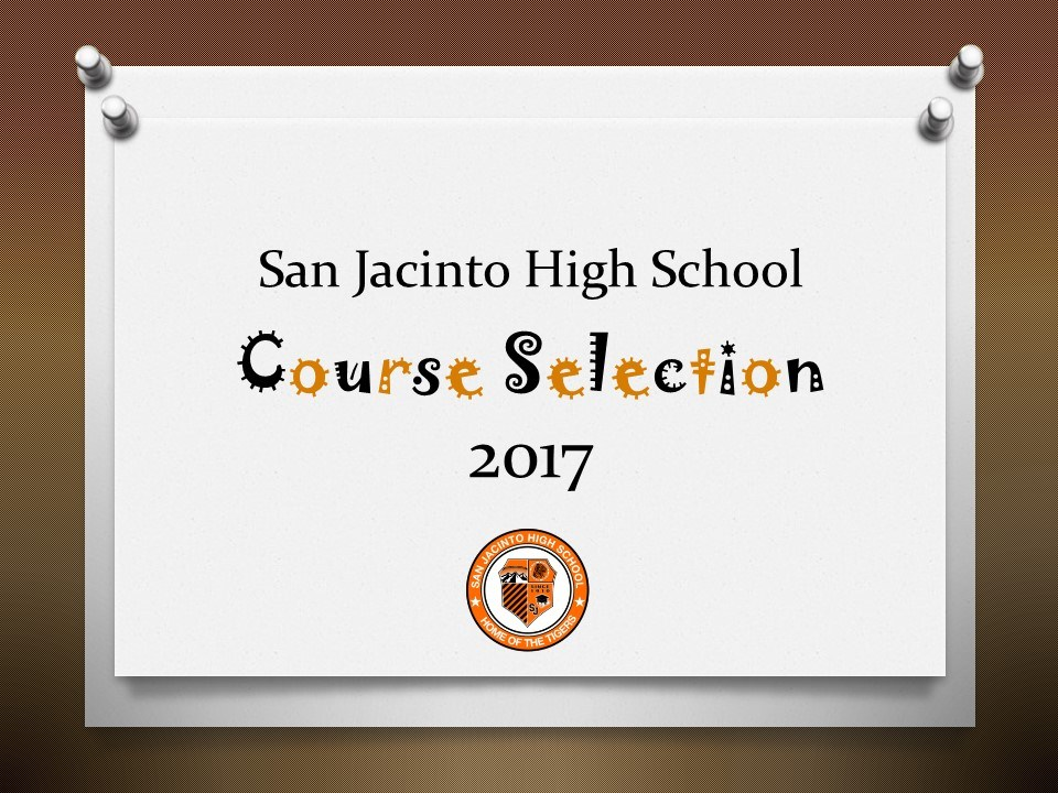 Course Selection Power Point