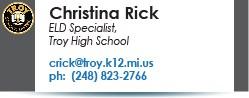 Christina Rick email