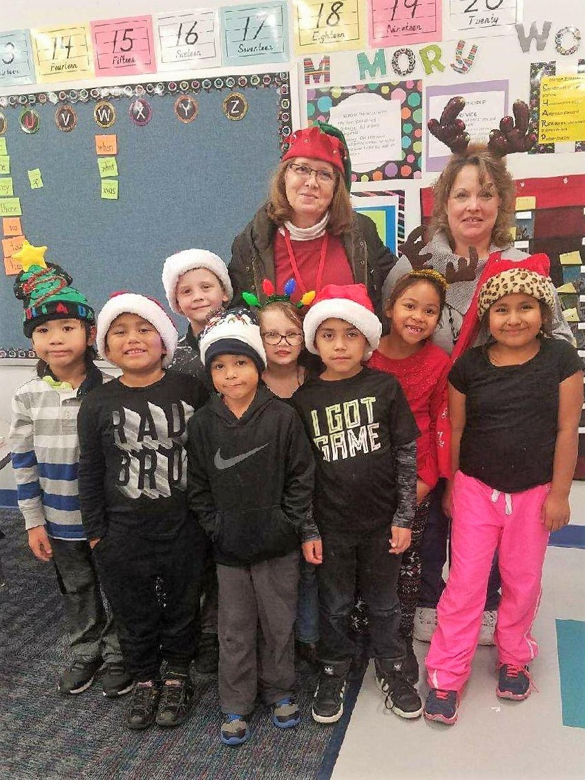 students who wanted to participated in christmas stockings day christmas hat day and ugly christmas sweater day - Ugly Christmas Hats