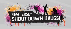 shout down drugs logo