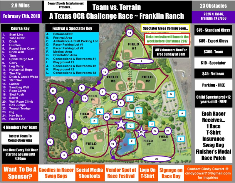 COWART SPORTS ENTERTAINMENT PRESENTS... TEAM VS. TERRAIN TEXAS OCR CHALLENGE RACE Thumbnail Image